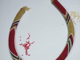 Вязанные жгуты из бисера, в наличии и на заказ