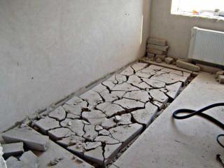Демонтаж бетоной стяжки пола бетоновырубка алмазное резка бетона стен