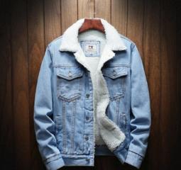 Джинсовая куртка джинсовка с мехом новая L