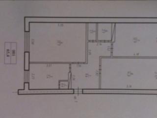 3-комнатная квартира. Автономное отоплением! Обмен на 2ух ком. На баме