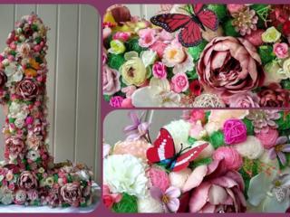 Композиции из искусственных цветов, букет невесты, сладкие букеты
