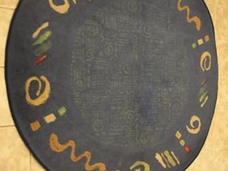 Продаю красивый круглый ковёр, диаметр 1870, Бельгия, сост. идеальное