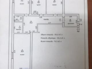3-ком. Центр. Индивидуальный проект, серый вариант. общ. 134.6м2