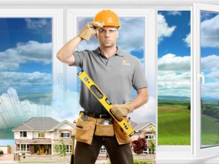 Reparatia geamurilor si usilor PVC, ремонт окон и дверей ПВХ. Calitativ