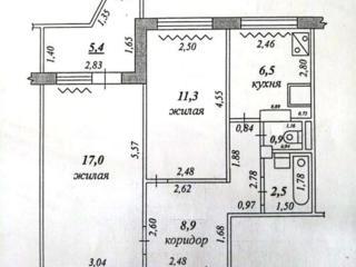Шелковый. Двухкомнатная квартира, белый вариант, 7/9 эт.