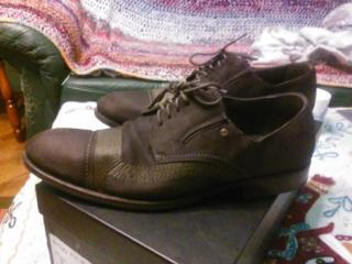 Туфли из натуральной замши, пр-во Италия р-41