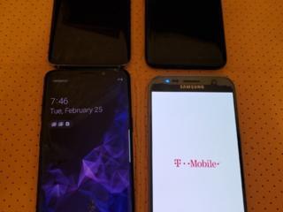 Samsung Galaxy S9,S8,S7.