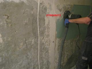 Демонтажные работы чистка стен от краски
