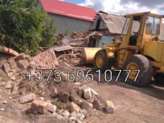 Dărâmarea caselor constuctiilor vechi evacuarea deseurilor nivelari