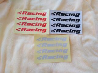 Наклейки на ручки Racing черная, красная, белая светоотражающая 4 шт