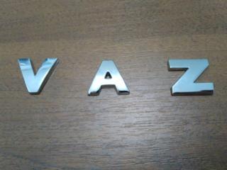 Буквы на кузов авто металлические VAZ Ваз хромированные