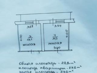 Кировский, 3/5, две комнаты с балконом, жилые.