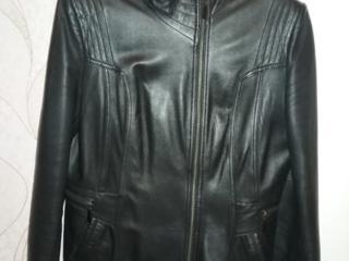 Куртка кожаная р 48 б/у в отличном состоянии - 900 руб