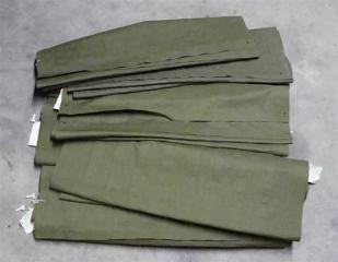 Прорезиненный брезентовый надувной армейский матрас