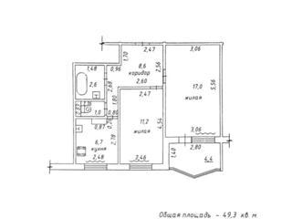 Самый Центр, 2-комнатная в 9-этажке