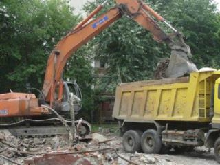Очистка участков снос строений выкорчевка деревьев садов вывоз мусора