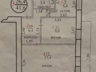 2-комн. квартира центр пр. Победы, возле Енисея, под магазин-офис