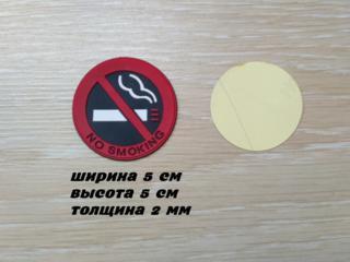 Наклейка в салон авто Не курить