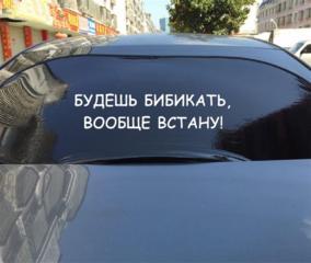 Наклейка на заднее стекло авто