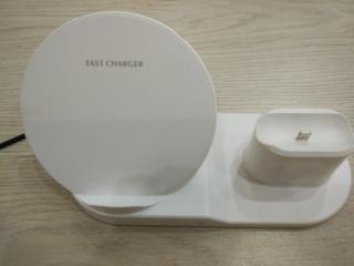 Беспроводная зарядка на Айфон, часы, наушники