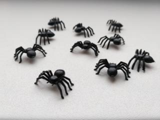 Паучки Для хэллоуина прикола пластмассовые 10 шт