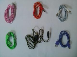 Micro USB 2.0 Кабель / 1 метр шнур плетенный
