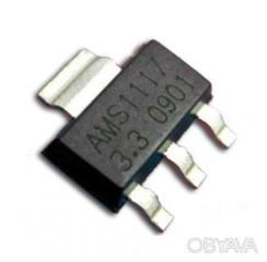Стабилизатор напряжения линейный AMS1117 на 3,3 V в корпусе SOT-223.