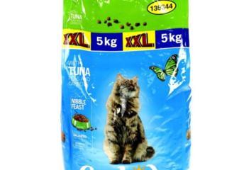 Корм для кошек тунец 5кг, универсальное, коричневый