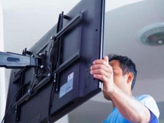 Навеска телевизоров на стену. TV LCD, LED, плазменные. Кронштейны ТВ