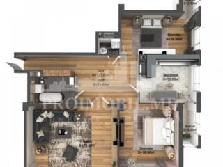 și suprafața de 124 m2. Complex locativ nou, amplasat în sect. sistem