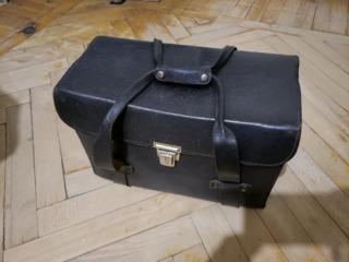 Большой кожаный кейс времён СССР (коллекционный).