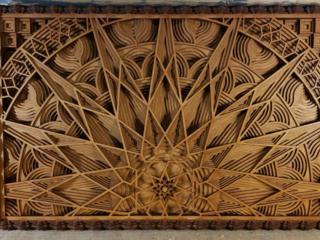 "Настенное панно ""Mandala"", размер 48х75х5 см."