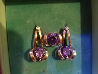 Продам украшения серебро-золото