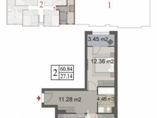 Spre vânzare apartament cu 2 camere în bloc nou, situat în sect. ...