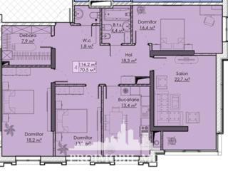 Apartament cu 3camere înunul dintre cele mai remarcabile proiecte .
