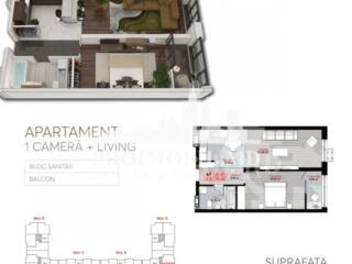 Apartament cu 2 camereși suprafața de 56 mp. Сel mai bun Complex ...