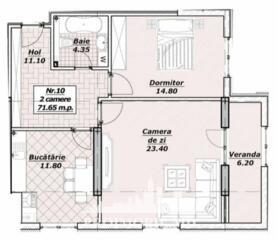 Vă propunem acest apartament cu 2 camere, sectorul Centru,str. V. .