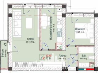 Bloc nou cu numai 5 nivele, 3 apartamente pe etaj. Construit din ...