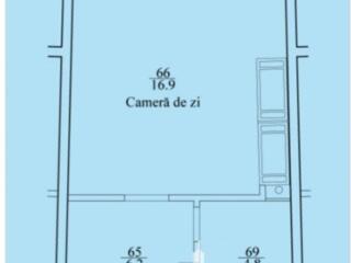 Spre vânzare apartament în varianta albă cu 1cameră, amplasat în .