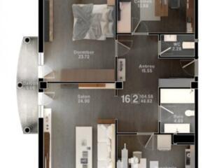 Spre vînzare apartament cu 3 camere în bloc nou situat în sectorul .