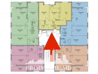 Spre vânzare apartament cu 2 camere, amplasat în sectorul Buiucani,