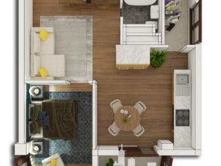 Spre vânzare apartament în varianta albă cu 1 cameră + living, ...