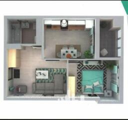 Oferim spre vânzare un apartament superb cu 1 cameră, amplasat în ..