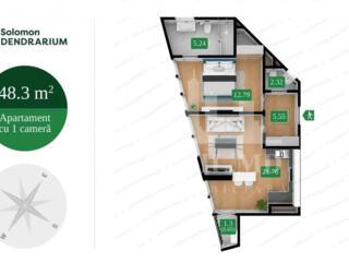 Vă propunem acest apartament cu 2camereîn Complexul Solomon ...