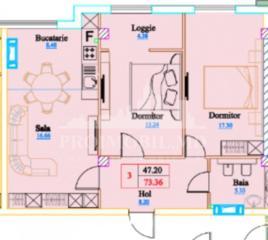 Vă prezentăm un apartament cu 3camere și suprafața de 73 mp, ...