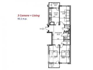 Vă propunem apartament în varianta albă  cu 3 camere din sectorul ...