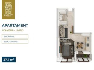 Spre vânzare apartament cu 1 cameră amplasat în sectorul Centru, pe .