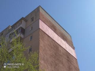 Утепление фасада, высотные работы, промышленный альпинист.