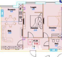 Spre vânzare apartament în bloc nou construit de compania Inamstro, ..
