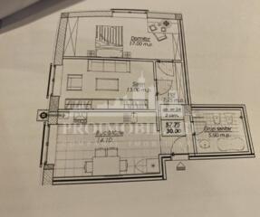 Spre vânzare apartament cu 2 camere în Comlexul Locativ ''M